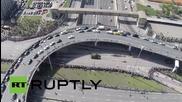 Русия: Дрон показва ясна гледна на парада по случай деня на Победата