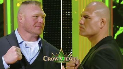 Brock Lesnar vs Cain Velasquez en Crown Jewel: WWE Ahora, Octubre 12, 2019