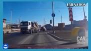 Катастрофи, шофьори идиоти и олигофрени на пътя - Компилация