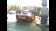 Lamborghini & 6 Porscheta На Omv Caндански