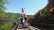 Баскет върху влак в движение