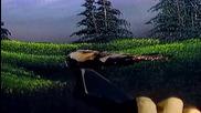 S09 Радостта на живописта с Bob Ross E13finale - планинско скривалище ღобучение в рисуване, живописღ