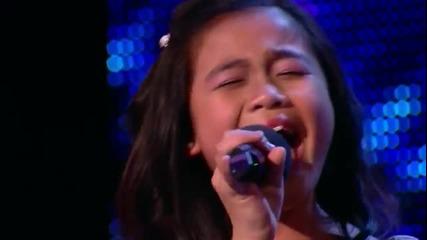 11 годишно момиче изуми публиката с гласа си - Великобритания Търси Талант