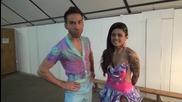 Dancing Stars - Елена и Деян минути преди предаването 18.03.2014 г.