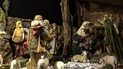 Italy: Mary and Joseph don their masks as Turin Cathedral nativity scene adapts to COVID