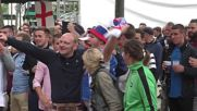 France: England fans go wild in Saint Etienne ahead of Slovakia showdown *EXPLICIT*