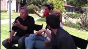 Chuck, Последния снимачен ден на 4 сезон, Yvonne, Zac, Gomez и Busey