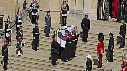 UK: Prince Philip funeral procession underway in Windsor *STILLS*