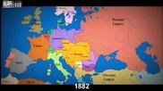 Карта на Европа през последните 1000 години.