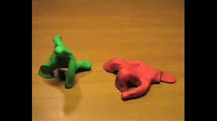 Зелен срещу червен - смях...