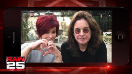 Sharon and Ozzy Osbourne got two words for WWE in honor of Raw 25