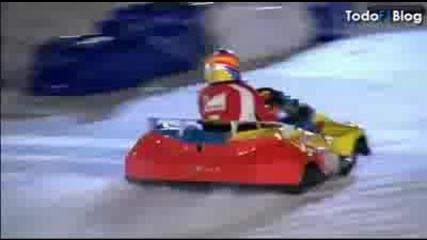 Alonso vs Rossi състезание 2011 2 carreras