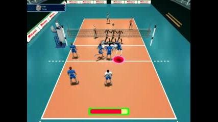 Яка Волейболна Игра - Страшна Блокада