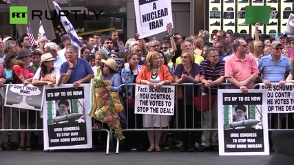 Pro-Israel Protesters March Against Iran Nuclear Deal in NYC