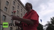 USA: Anti-torture protesters rally outside Department of Justice