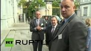 Belgium: Officials arrive for Council of Europe's Committee of Ministers in Brussels