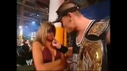 Maria and Cena Backstage