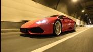 Зашеметяващо ускорение от 0-300 на Lamborghini Huracan