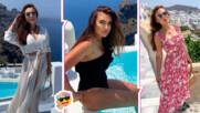 Лили от Big Brother сподели горещи кадри от почивката си на Санторини