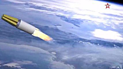 """Русия показа тестовете на най-новата балистична ракета """"сармат"""""""