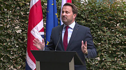 Luxembourg: PM Bettel holds solo presser after booed Johnson leaves