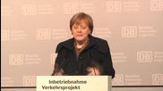 Germany: Merkel inaugurates new VDE 8 express train line in Leipzig