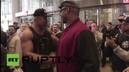 USA: Shannon Briggs heckles Vitali Klitschko as he attends brother's weigh-in in New York
