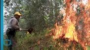 Firefighters in Dominican Republic Battle Blaze...
