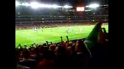 Arsenal - Dinamo Zagreb Bad Blue Boys Stand Up if You Hate England