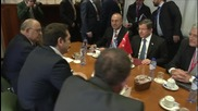 Belgium: Davutoglu holds talks with Tsipras in Brussels