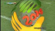 Бразилия на 1/2 финал на Световното! Бразилия 2:1 Колумбия 04.07.2014