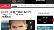 Paul Walker Looms Large Over 'Furious 7' Premiere at SXSW