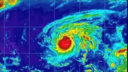 Typhoon Dolphin Batters Western Pacific Guam Natives Seek Refuge