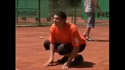 No Connection - Стреляне С Тенис Машина - не правете това със себе си :)