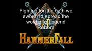 Hammerfall A Legend Reborn With Lyrics