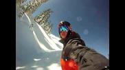 Gopro Hd Be a Hero Big Mountain Snowboarding Смъртоносно спускане !