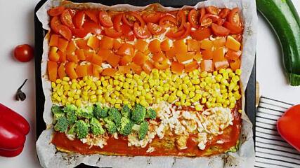 """Кето-пица """"Дъга"""" - витаминозна бомба за зимата!"""