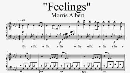 """Feelings"" - Morris Albert (piano sheet music by Tatiana Hyusein)"