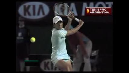 Justine Henin - Бекхенд Слайс