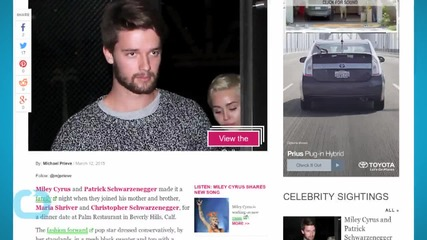 Miley Cyrus and Patrick Schwarzenegger Enjoy Family Dinner With Maria Shriver