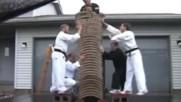 Karate Master breaks 35 bricks with bare hands Kungfu Karate Champion World Fitness Jimnastik Film