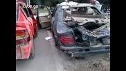 Ето как изглеждат колите след ужасното наводнение в Тбилиси !