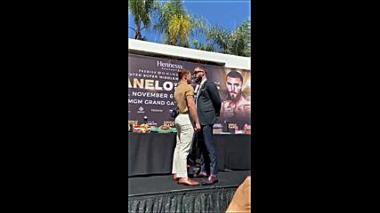 Алварез и Плант се сбиха на медийна пресконференция
