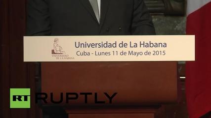 Оланд посети университета в Хавана