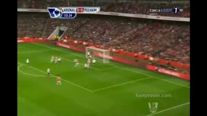 Два гола и асистенция на Бербатов - Арсенал - Фулъм 3:3 ( Англия, Висша лига (10-11-2012)