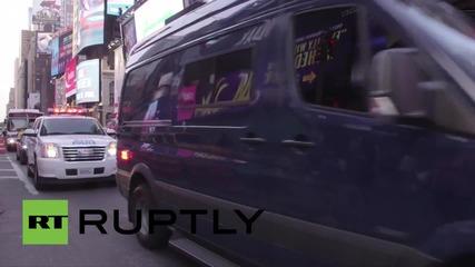 Пожар на Таймс Скуеър, евакуация на МТV офисите