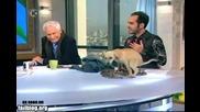 Смях !куче се изсира по време на Тв шоу