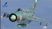 Красотата на полета - Миг -21 и Миг -29 в небето над България - [full Hd,1080p]