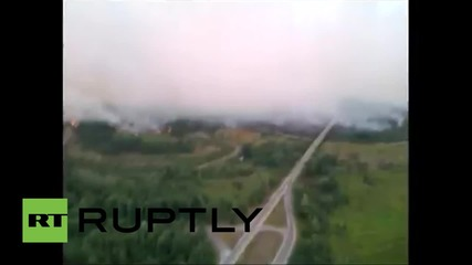 Ukraine: Wildfire engulfs Chernobyl buffer zone for second time in months