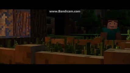 """revenge"" - A Minecraft Parody of Usher's Dj Got Us Fallin' in Love - Crafted Using Noteblocks"